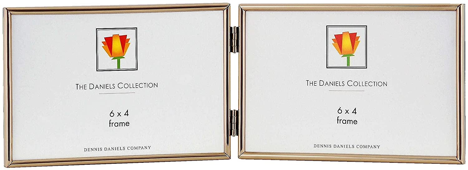 Amazon.com - Dennis Daniels Hinged Double Horizontal Narrow Channeled Picture Frame, 4 x 6 Inches, Brass - Professional Art Frame Kitsdennis Daniels Co