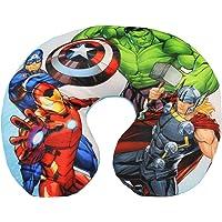 Marvel Avengers Neck Pillow Almohada de Viaje para niños, Thor Superhero, Hulk, Capitán América y Iron Man, 28 x 33 cm.