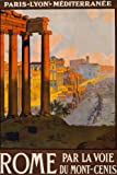 Rome Italy Tourism Travel Vintage Ad Art Print 24 x 36in