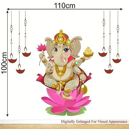 14038 Ganesha Sticker 100x83mm hindu god hinduism Ganapati Vinayaka