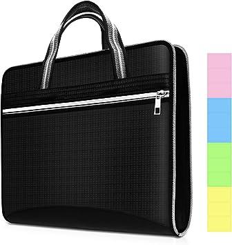 Portable 13 Pocket Expanding File Document Letter Accordion Folder Paper Bag