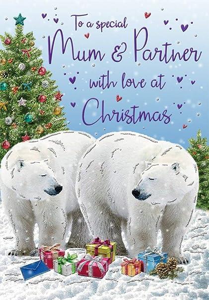 Carte de Noël Mum & Partner   9 x 6 pouces   Regal Publishing