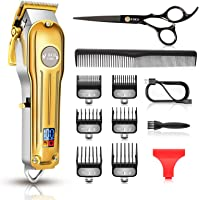 Maquina Cortar Pelo Profesional, CIICII Cortapelos Hombre & Recortadora de Barba (12Pcs/ Inalámbrico/Recargable/USB/LCD…