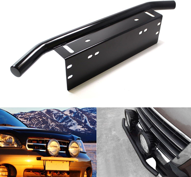 Black Duty Offroad Bumper License Plate Mounting Bracket LED Fog Light Wonderful