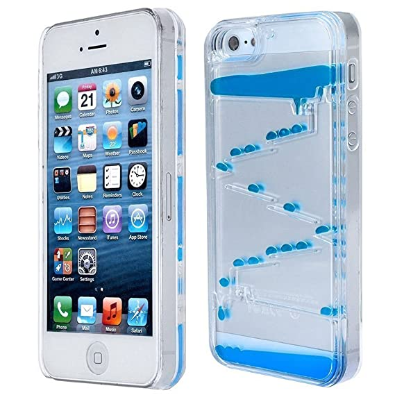 quality design 41e1e 0cd6d iPhone 5s case HHYCT Liquid Quicksand Moving Stars 3D Transparent Clear  Hard Case Creative Design Flowing Liquid Swimming Magic Maze Cover for  Iphone ...