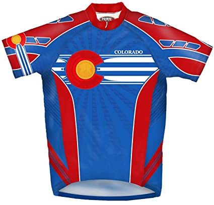 Amazon.com   Primal Wear Colorado Flag Cycling Jersey Men s Short ... af721934e