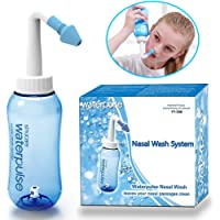 300ml Nasal Rinse Bottle Sinus Irrigation Nose Wash System Nose Cleaner Neti Pot Cleanser for Allergic Rhinitis Mucus…