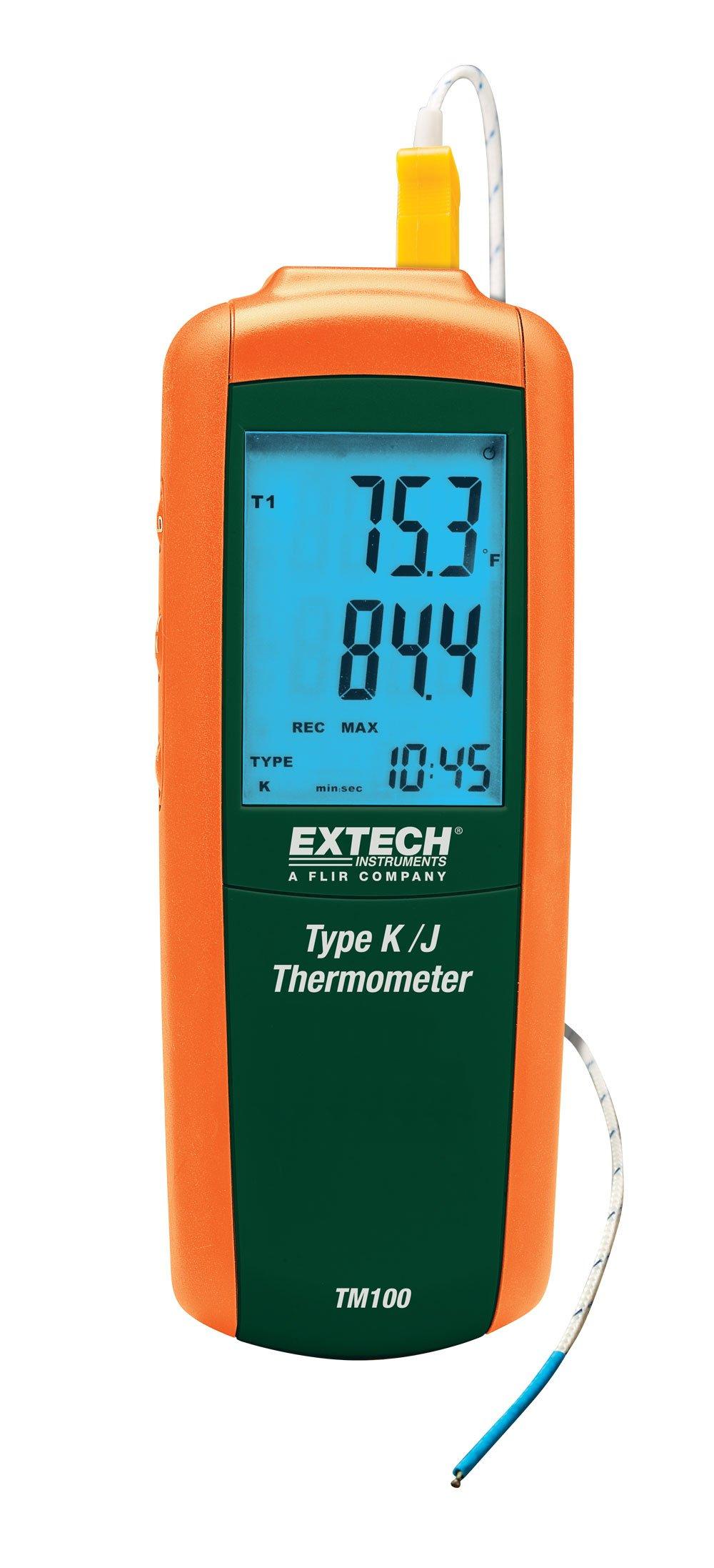 Extech TM100 Type J/K Single Input Thermometer