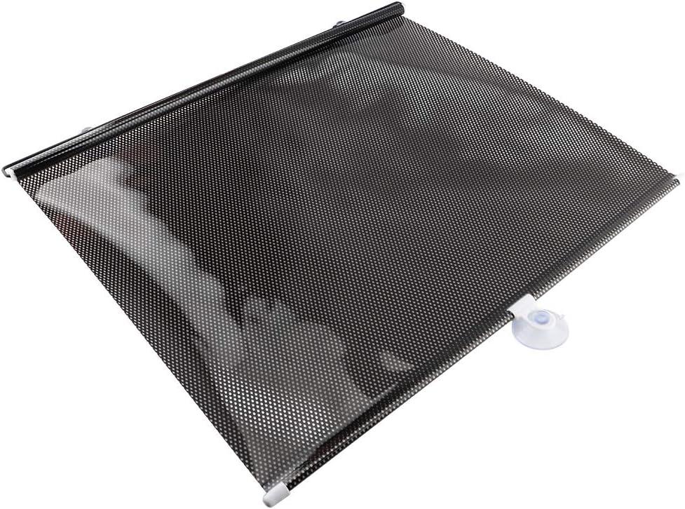 50 * 125cm bouclier escamotable automatique de pare-soleil de rouleau de rideau de pare-soleil de voiture de PVC pour la fen/être arri/ère Rideau pare-soleil de voiture