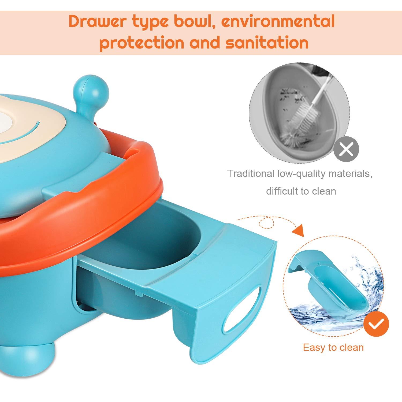 Inner Babytopf with lid t/öpfchen f/ür kinder by ANGELBLISS Ultra stabiles Design(6-48 Monate) Toilettentrainer f/ür Jungen und M/ädchen