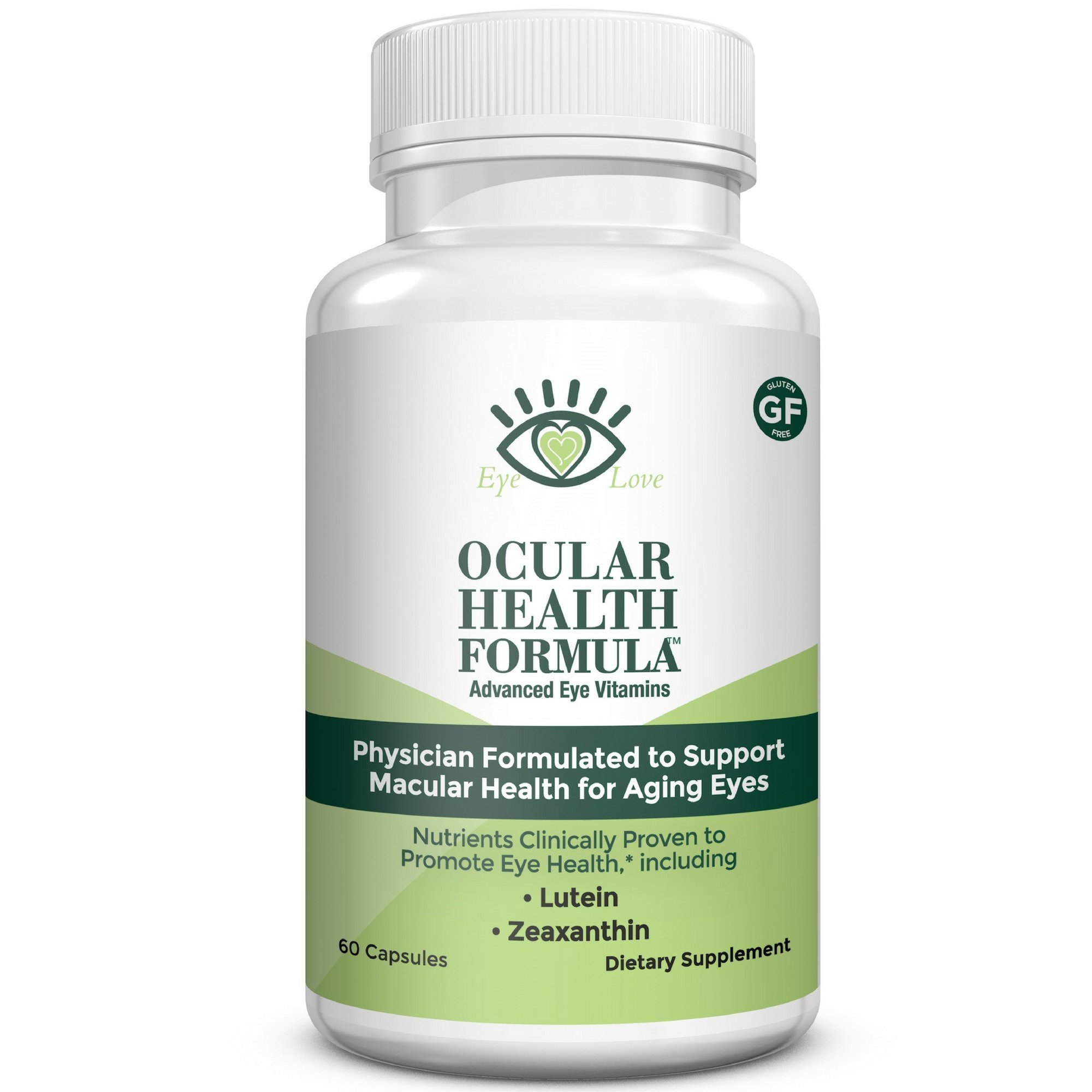 AREDS 2 Formula, Packed with Lutein, Zeaxanthin, and Astaxanthin, Ocular Health Formula by Eye Love, Optometrist Developed to Follow AREDS-2, Complete Macula and Retina Support (30 Day Supply)