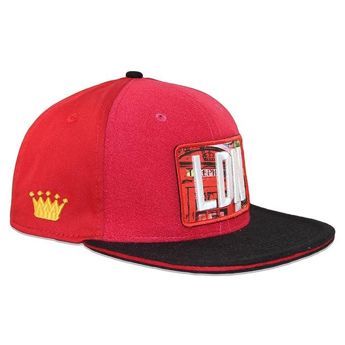 Coronas personalizado de punto de cruz de gorra Velcro + LDN Velcro Logo y parche con escudo londinense: Amazon.es: Ropa y accesorios