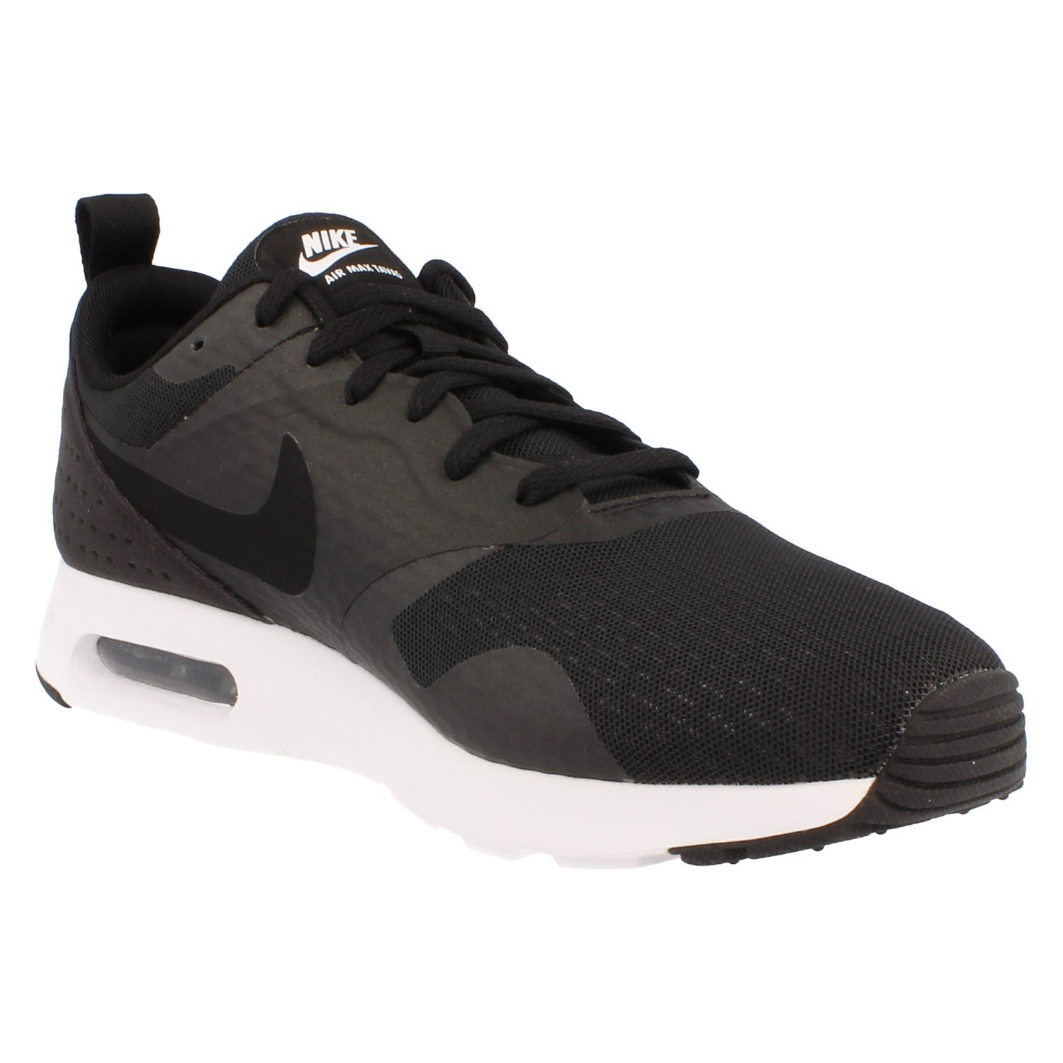 detailed look e76e3 158df Nike AIR MAX Tavas Essential 725073 001 Black Black-White  Buy Online at  Low Prices in India - Amazon.in