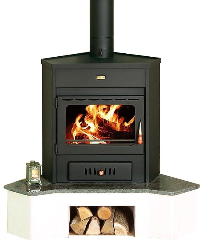Estufa de leña Corner modelo Log quemador de combustible sólido 12 kW Prity Emb: Amazon.es: Bricolaje y herramientas