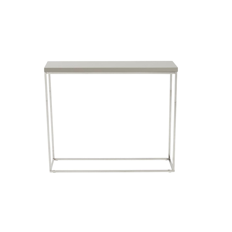 Amazon.com: Euro Style Teresa – Mesa consola – Taupe Laca ...
