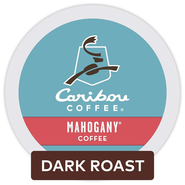 Caribou Coffee Mahogany, Single-Serve Keurig K-Cup Pods, Dark Roast Coffee, 96 Count
