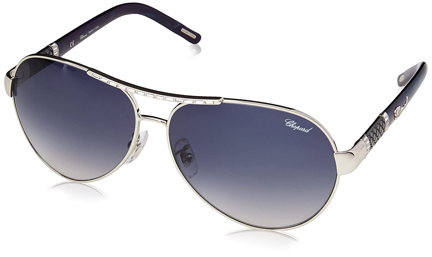 5af270a6ba52c Amazon.com  Chopard Sunglasses SCHA59 0579 Palladium Grey Blue Gradient   Clothing