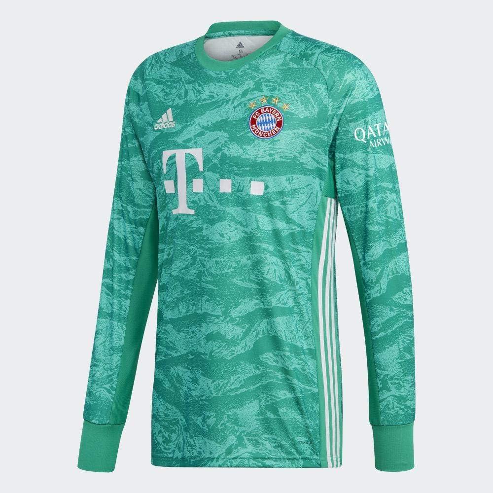 adidas 2019-2020 Bayern Munich Home Goalkeeper Football Soccer T-Shirt Jersey