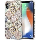 【Spigen】 デザイン スマホケース iPhone X ケース レンズ保護 超薄型 超軽量 シン・フィット 057CS22624 (アラベスク)