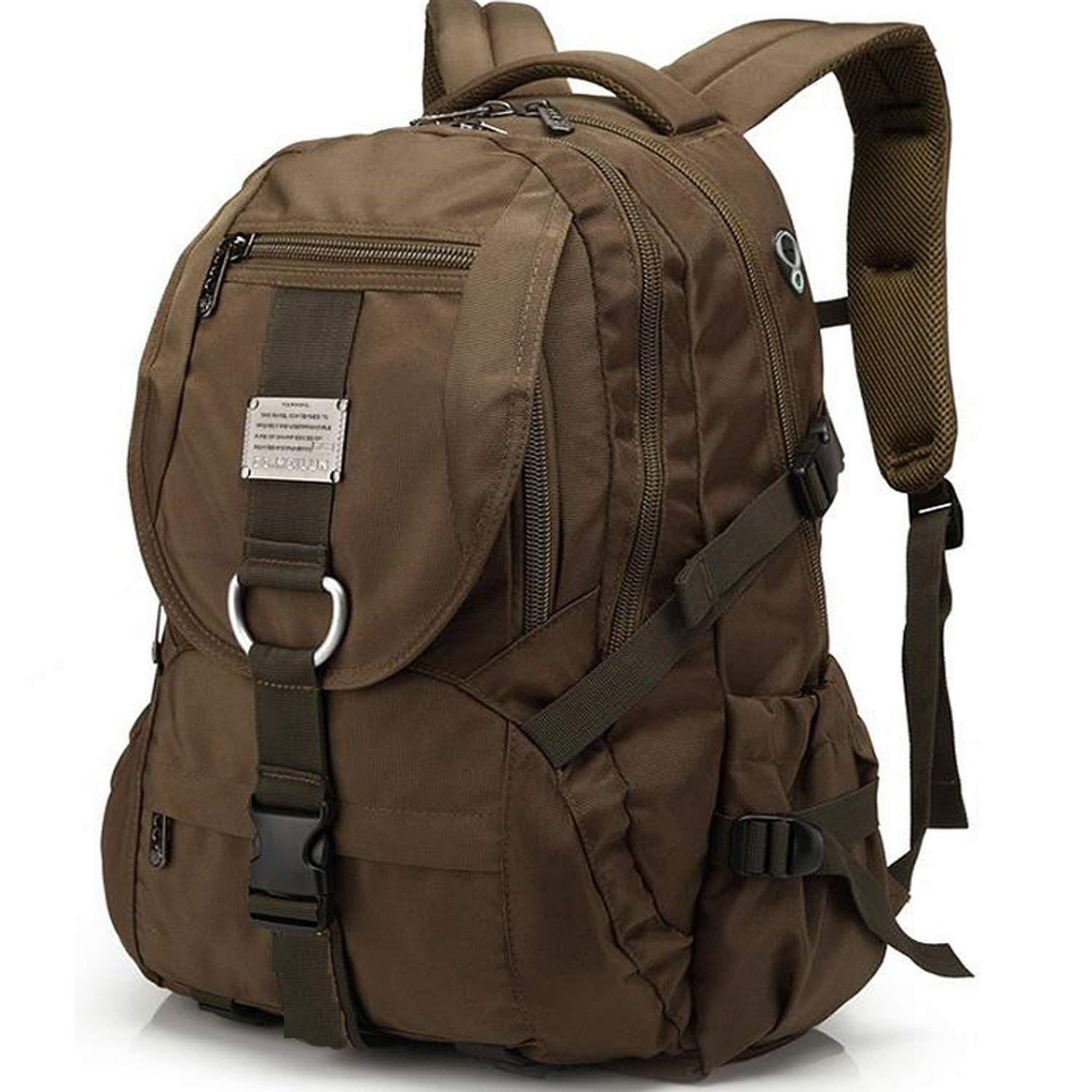 Travel Laptop Backpack, Extra Large College School Backpack for Men/Women with Headphones Hole, Water-Resistant Durable Outdoor Travel Computer Daypack Backpack Fit 17 Inch Laptops Notebook (Brown) by KOLAKO