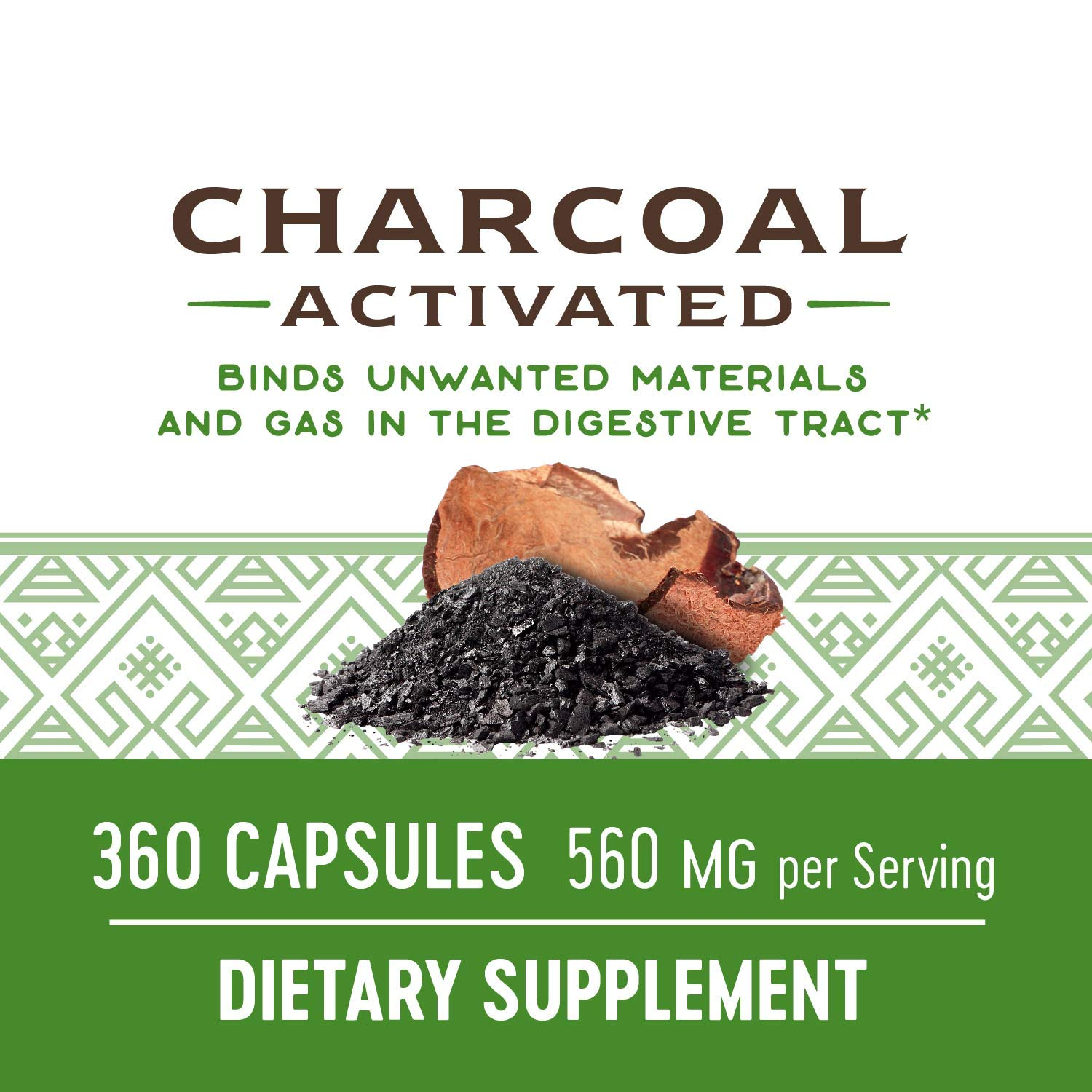 Nature's Way Charcoal Activated; 560 mg Charcoal per serving; 360 Capsules (Packaging May Vary) by Nature's Way (Image #5)