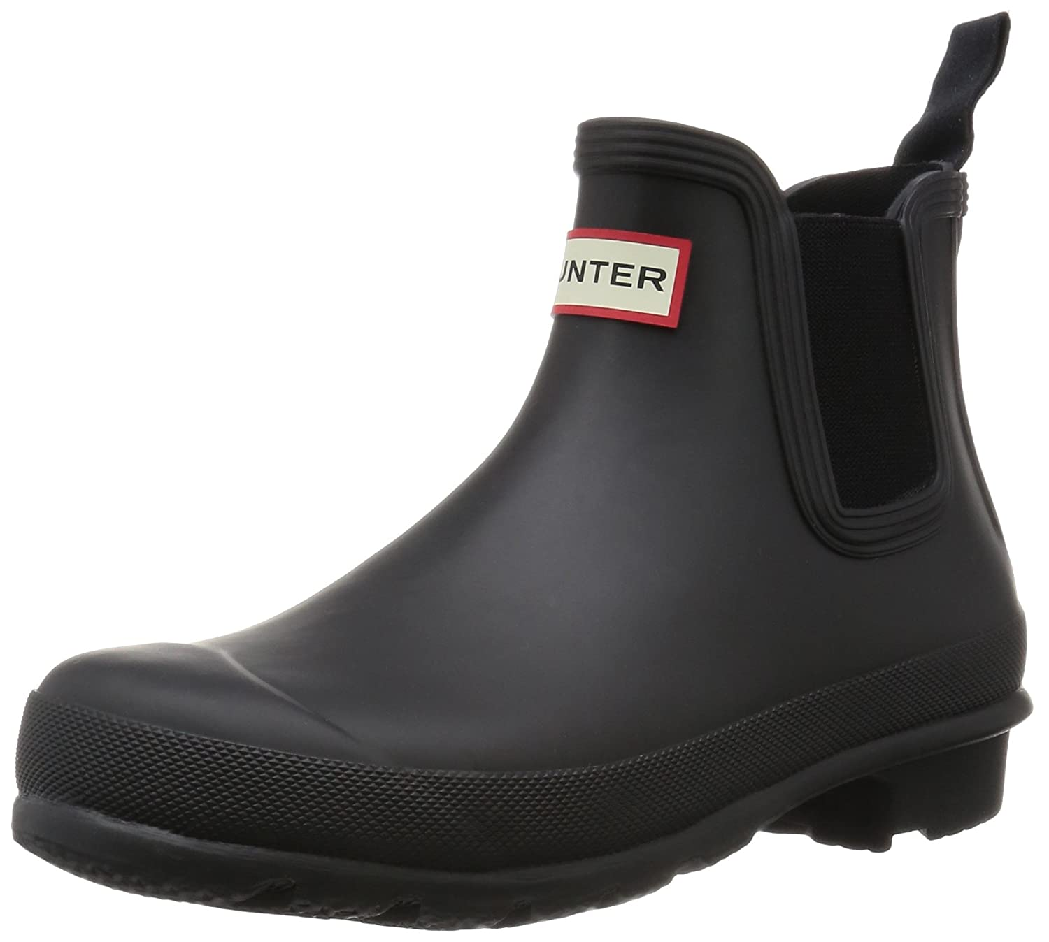 Hunter Women's Original Chelsea Rma Ankle-High Rubber Rain Boot B014QURU98 9 B(M) US|Black