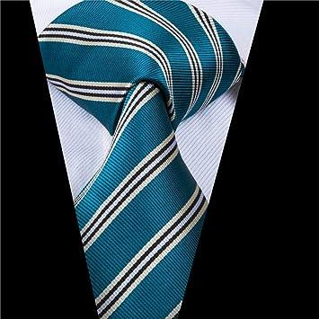 AK Hombres S Tie Tie 8.5Cm Corbatas de rayas verdes clásicas para ...
