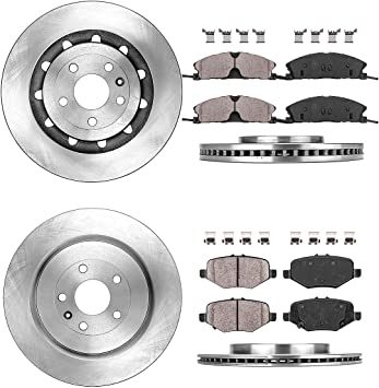 2013 2014 2015 For Ford Explorer Front Disc Brake Rotors and Pads w//HD Brakes