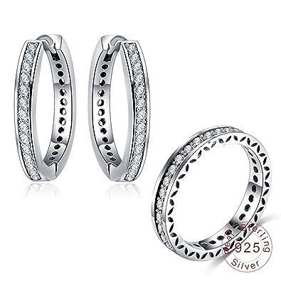orecchino bebe/' bimbo bimba SINGOLI zirconi ARGENTO 925 SILVER earrings cildren