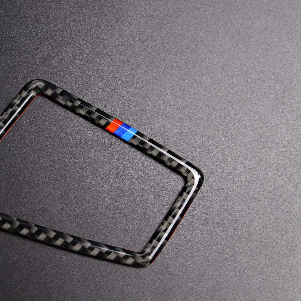 KKmoon Adesivi per Volante Auto Copertura in Fibra di Carbonio Cornice Interna per Telaio Stile D per BMW Serie 3 E90 E92 E93 2005 2006 2007 2008 2009 2010 2011 2012