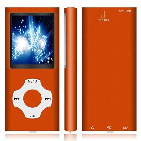 Voice Record MP4 Player MP3 Player Hotechs MP3 Music Player with 32GB Memory SD Card Slim Classic Digital LCD 1.82 Screen Mini USB Port with FM Radio