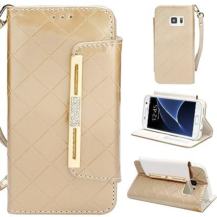 Amazon Com Galaxy S7 Case S7 Wallet Case Aco Uint Elegant Grid
