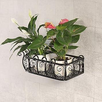 Blumenregal Wohnzimmer | Pll Kreative Wandbehang Blume Regal Wandregal Schmiedeeisen Wort