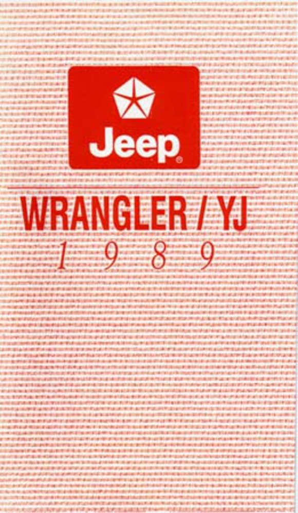 1988 Jeep Wrangler Owners Manual User Guide Reference Operator Book Fuses Fluids