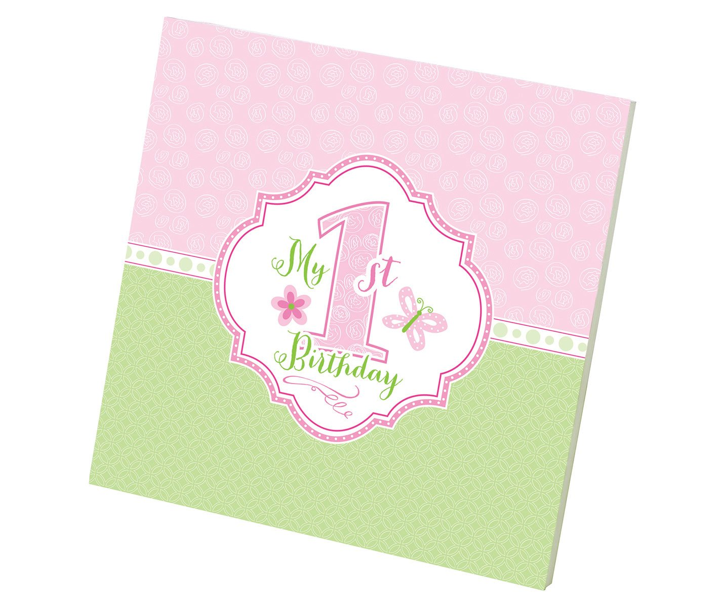 Lillian Rose 1st Birthday Keepsake Memory Book, Pink, 7