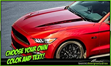 2015 2016 NEW FORD MUSTANG HOOD SPEARS STRIPES VINYL DECALS GRAPHICS STICKERS
