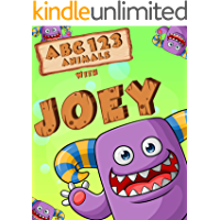 ABC 123 Animals with Joey Purple Monster picture book: Learning to Count Numbers and Alphabet for Toddler and Preschool (English Edition)