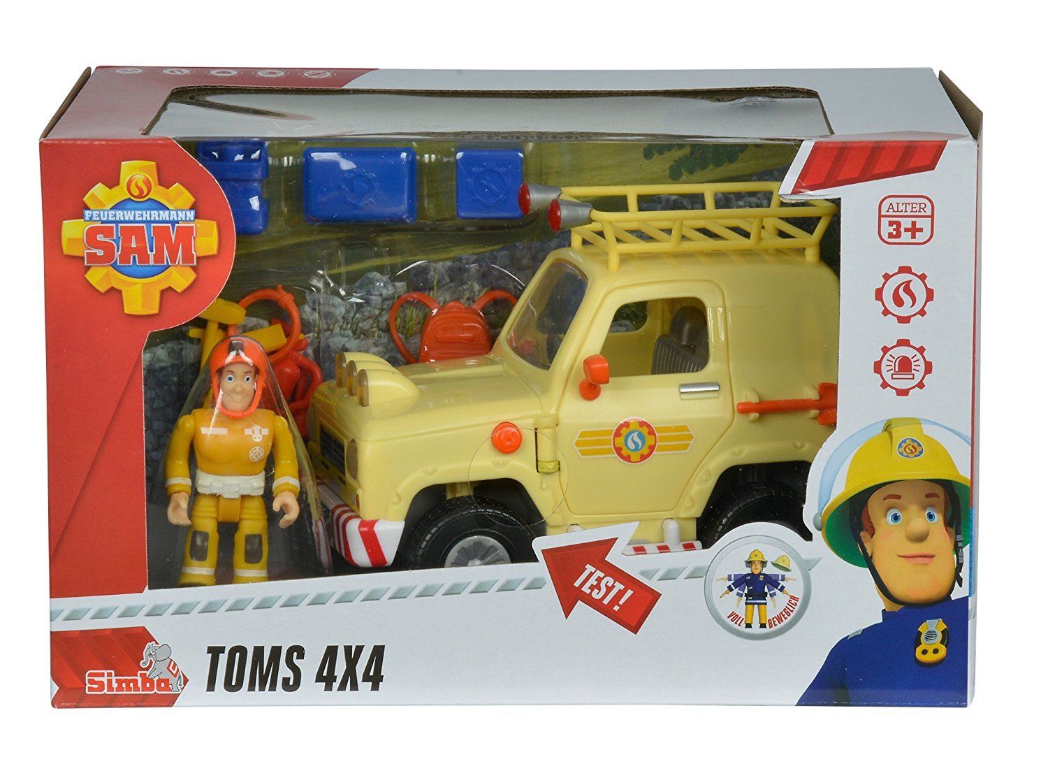 Fireman Sam! Deluxe Fireman Sam Sams Jeep 4x4 Truck with Accessory Pack and Figure Ages 3