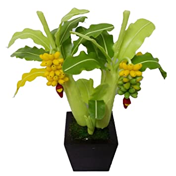 Wonderful 9u0026quot; Artificial Banana Tree Made From Clay, Artificial Plants, Clay  Banana Trees,