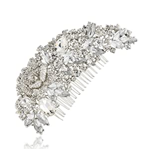 PROHAIR Special Offer Hair Combs Trendy Plant Crystals Comb Flower Hair Wedding Women Bridal Accessories