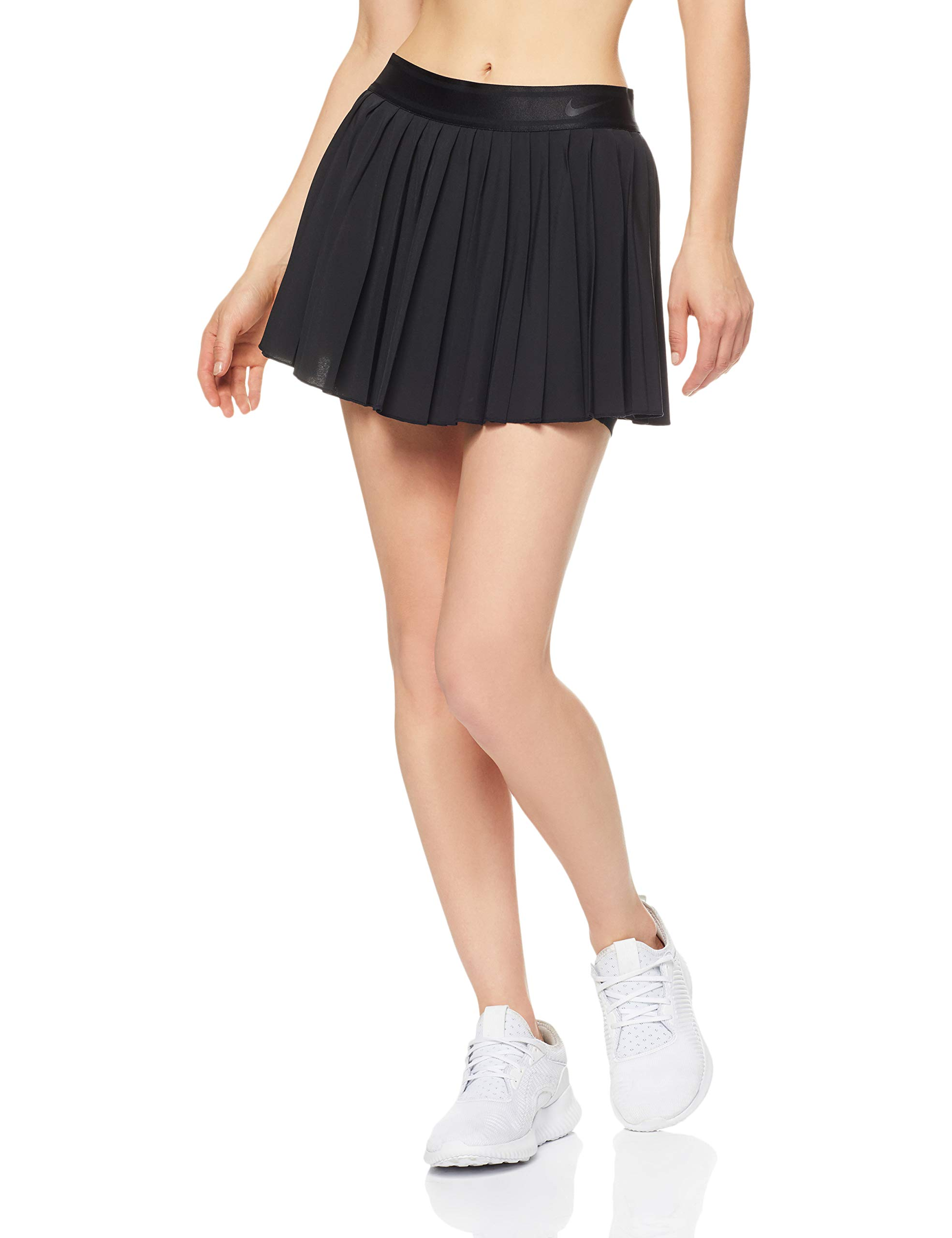 Nike Women's Court Victory Tennis Skirt (Black/Black/Black, X-Small) by Nike (Image #1)