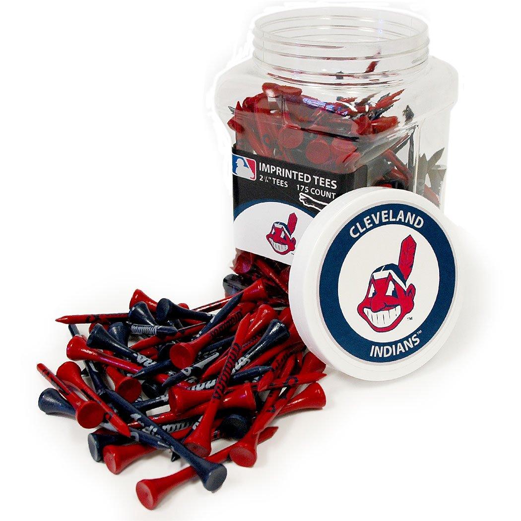 Team Golf MLB Cleveland Indians 2-3/4'' Golf Tees, 175 Pack, Regulation Size, Multi Team Colors