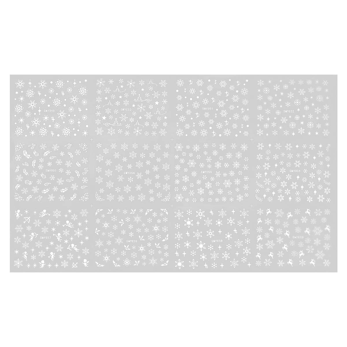 Nail Stickers, Snowflake Nail Decals Christmas 3D Self-adhesive Nail Art Stickers for Winter Holiday