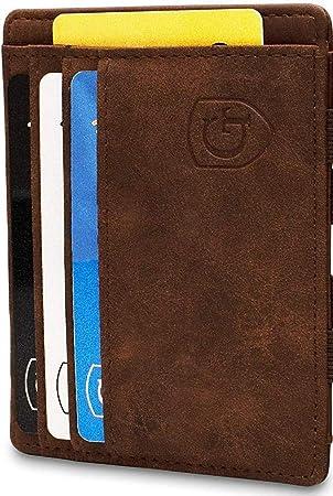erh/ältlich in 2 Farben Magische Geldb/örse mit gro/ßem M/ünzfach Geschenk f/ür Herren und Damen Carbon Design Germany NFC Schutz T/ÜV gepr/üfter RFID GenTo/® Magic Wallet Pacific