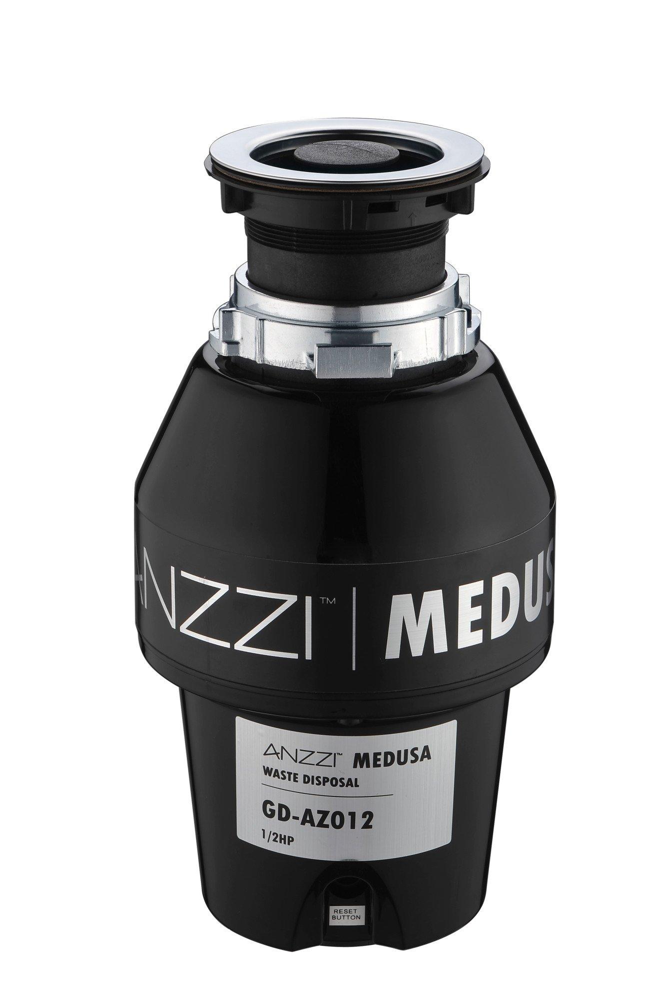 1/2 HP Garbage Disposal - Black - Medusa Series GD-AZ012 - ANZZI by ANZZI (Image #1)