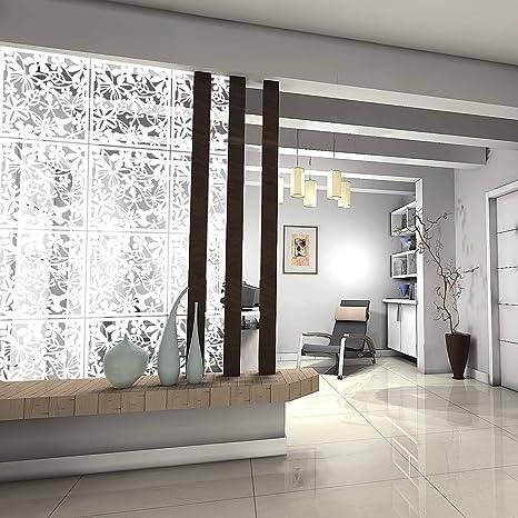 Kernorv DIY Hanging Room Divider Made Of Environmentally PVC, 12 PCS  Partitions Panels Screen For