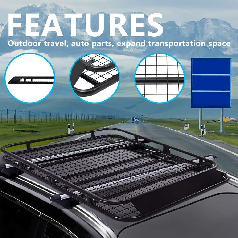 110kg Alter-C-DJ 120x98CM ALTERDJ Universal Dachkorb Auto Dachgep/ä cktr/ä ger Dachtr/ä ger Dach Gep/ä cktr/ä ger Gep/ä ckkorb aus Stahl schwarz Maximale Belastung