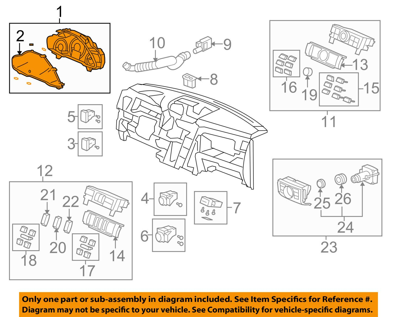 Honda Genuine 78100-SZB-L11 Combination Meter Assembly