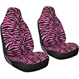 Oxgord 2pc Integrated Zebra Bucket Seat Covers Universal Fit For Car Truck Van
