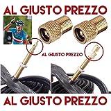 2 Adattatori Universali per Valvole - Da PRESTA a SCHRADER specifici per Bici da Corsa e Mountain Bike - Gonfia con il compressore o la Pompa a pedale - Made in Italy - AlGiustoPrezzo ® ™